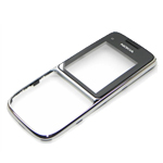 Genuine Nokia C2-01 Front Cover (Silver Gloss)- Nokia part no: 0258349