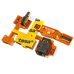Nokia XL, Dual SIM  flex cable with audio connector and vibration- Part no: 8003377