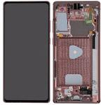 Genuine Samsung Galaxy Note 20 (N980F) / (SM-N981) 5G Complete lcd in Mystic Bronze - Part no: GH82-23733B