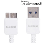 Genuine Samsung Galaxy Note 3, Samsung Galaxy S5, SM-T905 tablets USB 3.0 Data Cable 1.0m- White Original OEM ET-DQ10Y0WE