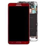 Genuine Samsung N9005 Galaxy Note 3 Complete Lcd with Digitizer and Touchpad with Frame in Red- Samsung part no: GH97-15209D