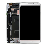 Genuine Samsung Galaxy Note 3 LTE (N9005) Complete lcd and digitizer with frame in white - Part no: GH97-15209B
