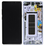 Genuine Samsung Galaxy Note 8 (N950) lcd with frame and touchpad in Grey/Violet - Part no: GH97-21065C/GH97-21066C