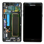 Genuine Samsung Galaxy Note 7 (SM-N930F) Complete Lcd with touchpad and frame with flex, Home Button, Side Button in Black- part no: GH97-19302A