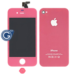 iPhone 4 LCD and Digitizer in Pink with Battery Cover and Home Button (High Quality)