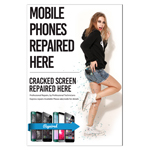 New A2 Glossy Posters Mobile Phone Repaired Here/Cracked Screen Repaired Here/Professional Repairs By Professional Technicians (Shipped to UK only and Shipped Separately)