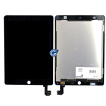 iPad Air 2 Complete lcd and touchpad assembly in Black - Complete lcd unit with flex and touchpad