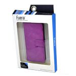 Fuera Leather Flip Cover case for iPhone SE in Purple (in Fuera Retail Packaging)