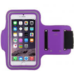 Latest Velcro Sports Armband for New iPhone SE in Purple - fits the iPhone SE, iPhone 5S and iPhone 5