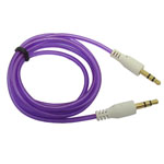 3.5mm Stereo Audio Auxiliary AUX Cable for iPhone 4 MP3 Round purple