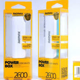New Remax 2600 mAh Power Bank On The Go in White and Blue - For Mobile Phones, Tablets, MP3, iPods, PSP and more