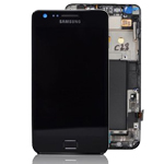 Genuine Samsung GT-i9100 Galaxy S2 Complete Lcd and Touchpad with Frame in Black- Samsung part no: GH97-12626A (Grade A)