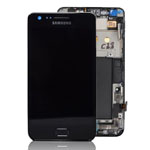 Genuine Samsung GT-i9100 Galaxy S2 Complete Lcd and Touchpad with Frame in Black- Samsung part no: GH97-12626A (Grade B)