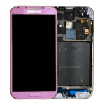 Genuine Samsung GT-I9505 Galaxy S4 Complete Front Lcd with Digitizer Touchscreen in Gold/Pink-Samsung part no: GH97-14655J