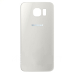 Genuine Samsung SM-G925 Galaxy S6 Edge Battery Cover in White - Part no: GH82-09602B