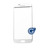 Samsung Galaxy S6 Edge SM-G925 Glass Lens with Adhesive in White Pearl