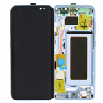 Genuine Samsung S8 (SM-G950) Complete lcd and touchpad with frame assembly unit in Blue - Part no: GH97-20457D
