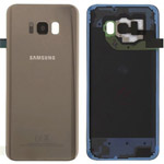 Genuine Samsung Galaxy S8 (SM-G950F) Battery Cover in Gold - Part no: GH82-13962F