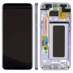 Genuine Samsung S8 Plus (SM-G955) Complete lcd and touchpad with frame assembly unit in Orchid Grey - Part no: GH97-20470C