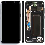 Genuine Samsung S8 Plus (SM-G955) Complete lcd and touchpad with frame assembly unit in Black - Part no: GH97-20470A