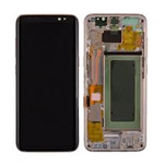 Genuine Samsung S8 (SM-G950) Complete lcd and touchpad with frame assembly unit in Gold - Part no: GH97-20457F