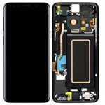 Genuine Samsung S9 (G960F) Complete lcd with frame assembly unit in Black - Part no: GH97-21696A