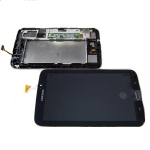 Genuine Samsung Galaxy Tab 3 7.0 SM-T210,P3210 Complete LCD with Digitizer and Frame in Black (Grade B)