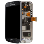 Genuine Samsung Galaxy S4 Mini GT-i9195 Complete Lcd with Digitzer and frame in Dark Black Edition - Part number: GH97-15631A