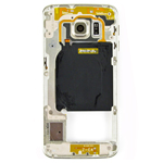 Genuine Samsung SM-G925F Galaxy S6 Edge Middle Cover with Camera Lens and Loudspeaker in Gold- Samsung part no: GH96-08376C (Grade B)