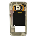Genuine Samsung SM-G925F Galaxy S6 Edge Rear Chassis with Loudspeaker and Side Button in White- Samsung part no: GH96-08376B