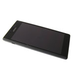 Genuine Sony Xperia M2 (D2303) Complete Lcd with Digitizer and Frame in Black- Sony part no: 78P7120001N (Grade B)