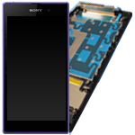 Genuine Sony C6903 Xperia Z1 Complete Front and LCD with Touchscreen in Purple- Sony part no: 1276-5216