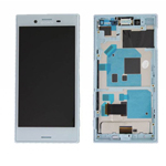 Genuine Sony Xperia X Compact (F5321) Complete lcd and frame with touchpad in Blue - Part no: 1304-1872