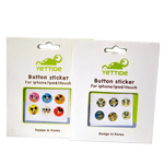 Colorful Cartoon Home Button 6pcs Sticker Set for iPhone/iPad/iTouch with Mickey Mouse Design