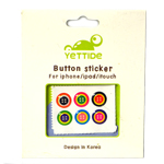 Mano Colorful Home Button 6pcs Sticker Set for iPhone/iPad/iTouch with Button Design