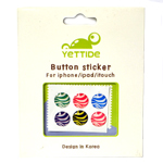 Mano Colorful Home Button 6pcs Sticker Set for iPhone/iPad/iTouch with Zebra Design