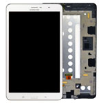 Genuine Samsung SM-T325 Galaxy Tab Pro 8.4 3G/LTE Complete Lcd with Digitizer, Frame and Home Button in White- Samsung part no: GH97-15740A