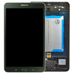 Genuine Samsung SM-T335 Galaxy Tab 4 8.0 LTE Complete Lcd with Digitizer, Frame and Home Button in Black- Samsung part no: GH97-15962A