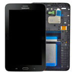 Genuine Samsung SM-T111 Galaxy Tab 3 Lite 7.0 3G Complete Lcd with Digitizer, Frame including Home Button in Black- Samsung part no: GH97-15548B