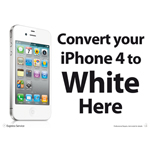A3 Convert your iPhone 4 to White Here Designer Series Poster for Shop WIndow/Display
