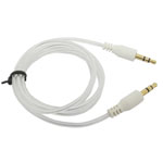 3.5mm Stereo Audio Auxiliary AUX Cable for iPhone 4 MP3 Round White