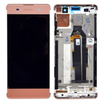 Genuine Sony Xperia XA (F3111)/ XA Dual (F3112) Complete Lcd with Digitizer Touchpad in Rose Gold-Sony part no: 78PA3100050