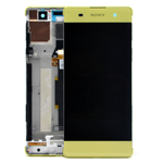 Genuine Sony Xperia XA (F3111), Sony Xperia XA Dual (F3112) Complete Lcd with Digitizer in Lime Gold-Sony part no: 78PA3100020