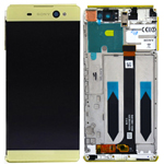 Genuine Sony Xperia XA Ultra (F3211), Xperia XA Ultra Dual (F3212) Complete Lcd with Digitizer in Gold- Sony part no: A/8CS-59290-0007