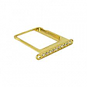 iPhone 4 Diamonte sim holder in gold- Replacement part (compatible)