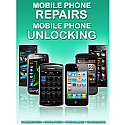 General mobile Phone Unlocking and Repair A3 Poster (Green)