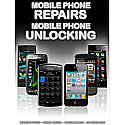 General mobile Phone Unlocking and Repair A3 Poster Black