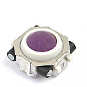 blackberry trackball in purple and white