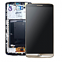 Genuine LG G3 (D855) Complete lcd with digitizer and frame assembly in Gold - Part Number: ACQ87190303