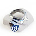 iPhone 3g 3gs Earphone Chrome Ring in White